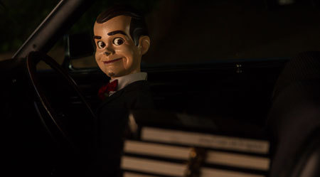Slappy makes his escape with the manuscripts