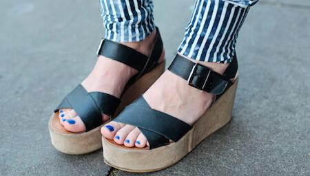 Ancient Greek actors wore platform sandals on stage!