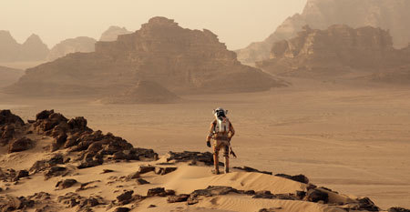 All alone in a Mars wasteland