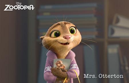 Zootopia Character Mrs. Otterton