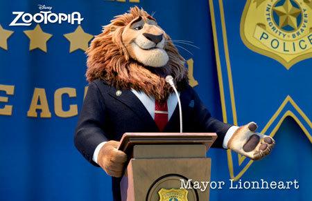 Zootopia Character Mayor Lionheart
