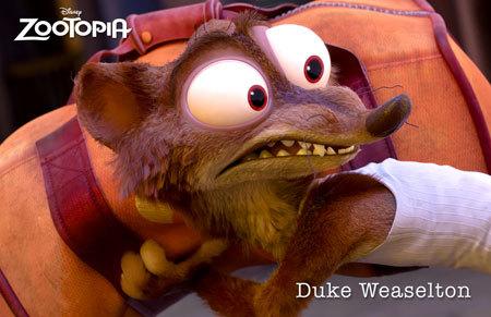Zootopia Character Duke Weaselton