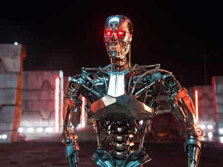 Evil terminator in the future war