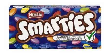 Smarties are the perfect combo of color and candy