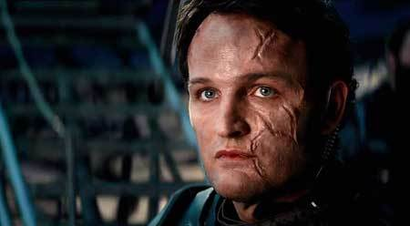 A battered John Connor