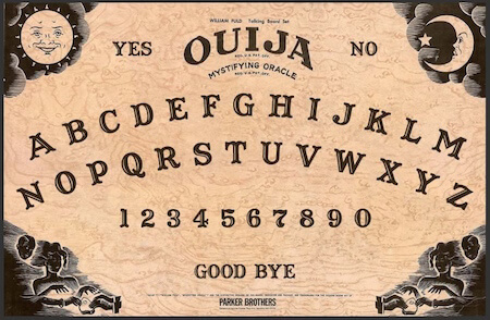 Check out the classic Parker Brothers Ouija board!