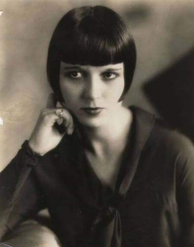 Louise Brooks wore her bob short and sleek in the 1920s.
