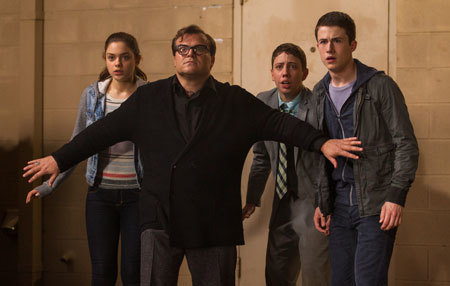 R.L. Stine (Jack Black) tries to protect the teens