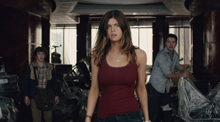 Blake (Alexandra Daddario) hopes dad comes to the rescue soon.