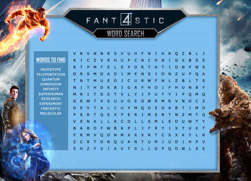Fantastic Four Word Search