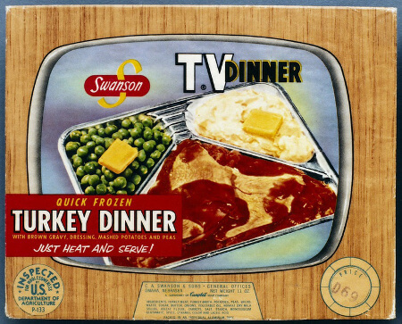 The first TV dinner was created because of too much turkey leftovers!