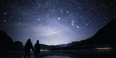 You'll be able to find your star in the night sky.
