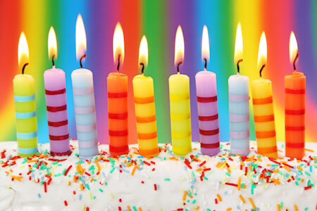 Candles brighten up any celebration!