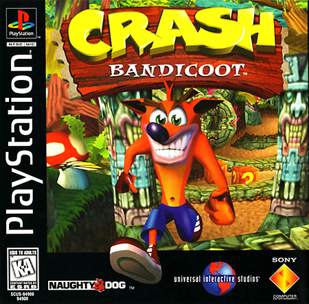 Crash Bandicoot launched for PS1 in 1996.