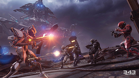 Play as a 4 player co-op team in Halo 5: Guardians
