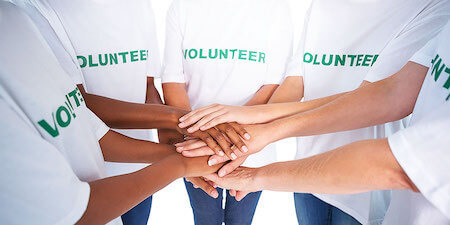 Volunteering brings people together.