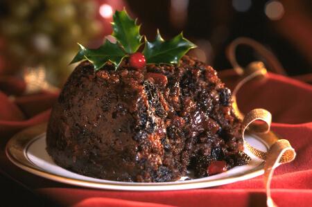 Traditional English Christmas pudding