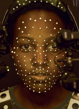 Lupita with motion capture dots