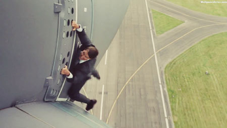 Tom Cruise doing his plane stunt