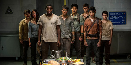 The surviving Gladers react to something they hadn't seen in a long time: a feast courtesy of WCKD