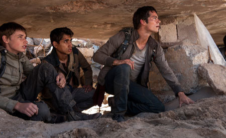 Aris, Winston and Thomas, make their way through the Scorch