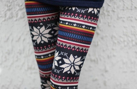 A snowflake pattern is a lot of fun to rock in winter time.