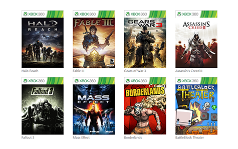 Just a few of the backwards compatible games so far!
