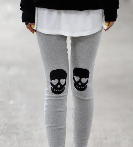 Knee patches are a stylish new twist on leggings.