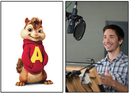 Justin Long as voice of Alvin