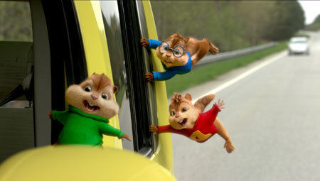 Theodore, Alvin, and Simon go on a wild Road Chip