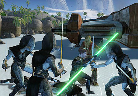 Build your own light-saber in Knights Of The Old Republic