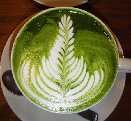 In North America, matcha is often served in latte form.