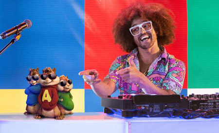 Redfoo with Alvin and the Chipmunks