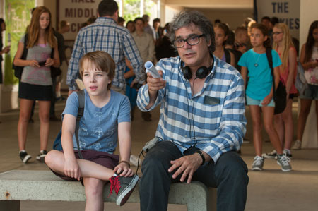Ed Oxenbould with his director