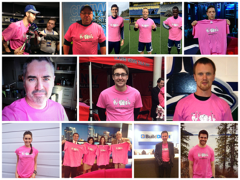 CKNW Pink Shirt Day Supporters