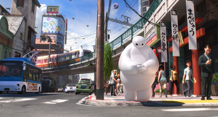 Baymax searches for Hiro's minibots
