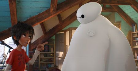 Hiro lays down the law to Baymax