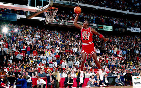 Micahel dunking
