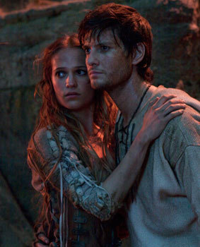 Tom (Ben Barnes) with his witchy love Alice (Alicia Vikander)