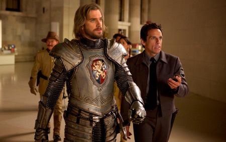 Lancelot (Dan Stevens) with Larry (Ben Stiller)