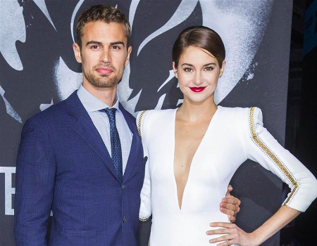 Theo James and Shailene Woodley at film's screening