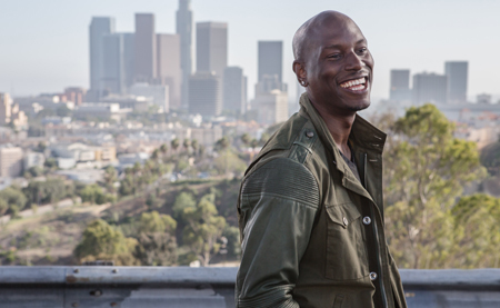 Roman (Tyrese) throws happy grin