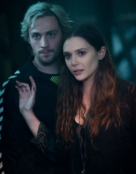 Scarlett Witch and Quicksilver in a quiet moment