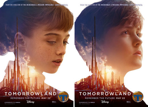 TOMORROWLAND Posters featuring Raffey Cassidy and Thomas Robinson