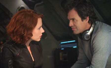 Black Widow and Bruce Banner get their flirt on