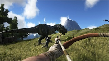 Hunt the magnificent T-Rex!