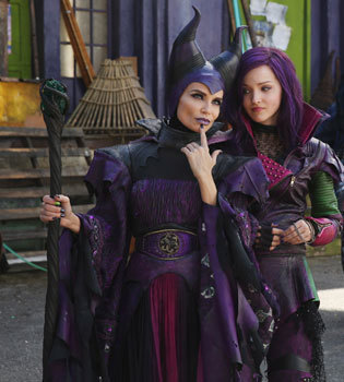 Dove as Mal with Kristin as Maleficent