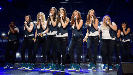 The Barden Bellas performing