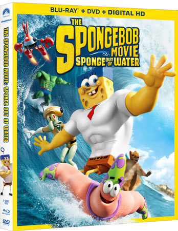 THE SPONGEBOB MOVIE: SPONGE OUT OF WATER Blu-ray