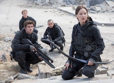 Gale, Katniss, Messalla, and Finnick